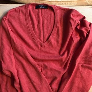 J. Crew Men's cashmere cotton blend v neck sweater